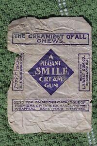 West's A Pleasant Smile Cream Gum Wrapper L.E. West Rock Island Illinois