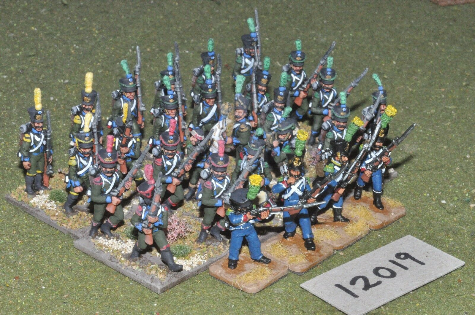 25mm napoleonic   french - infantry 28 figs - inf (12019)