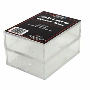 1-Case-of-100-Boxes-BCW-2-PIECE-SLIDER-BOXES-200-COUNT-CT-Box