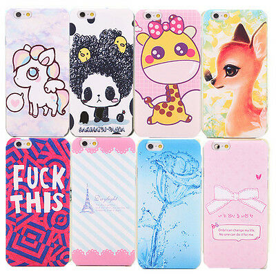 New arrive Cute Lovely Cartoon Hard Phone Back Case Cover for iPhone 5 5S 5C 6