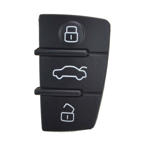 3 Button Replacement Pad Rubber Remote Key Fob For Audi A3 A4 A5 A6 A8 Q5 Q7 TT