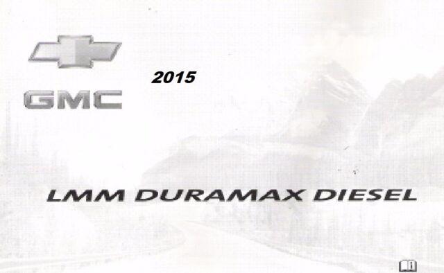 2015 Chevy Express Silverado Gmc Savana Sierra Owners Manual Diesel