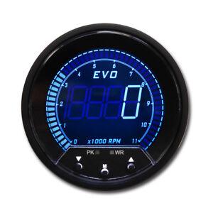 EVO Series 85mm Tachometer w//peak recall /& warn 0-11,000