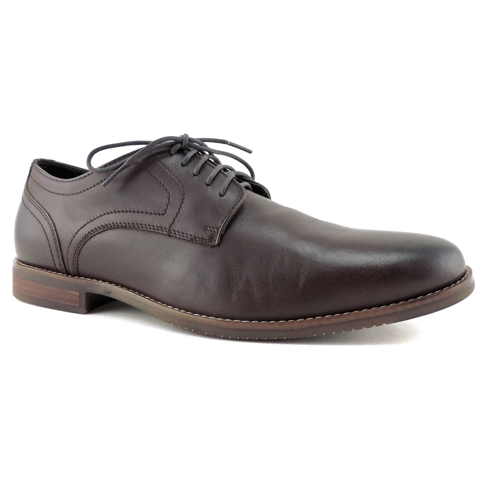 Rockport Men's Style Purpose Oxfords Lace up DK Brown Leather Size 11.5 M