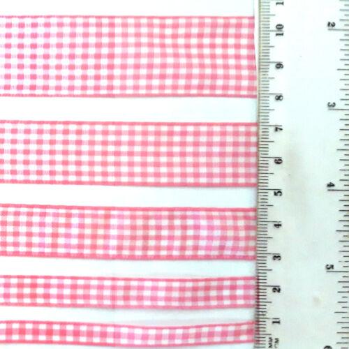 5 anchos y 7 Colores Pequeña comprobación de poliéster cuadros de la cinta Vendido por metros