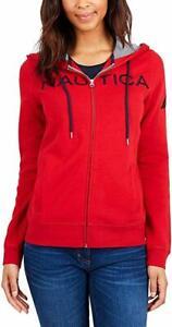 Nautica-Women-039-s-Signature-Logo-Full-Zip-Hoodie-Sweatshirt-Jacket