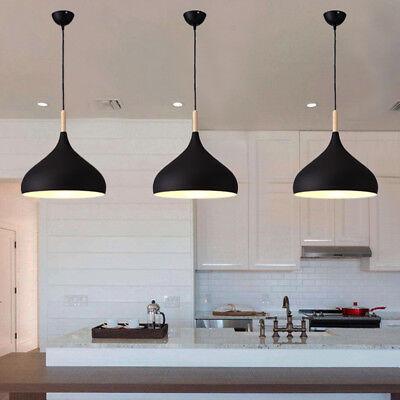 Modern Pendant Light Kitchen Black Pendant Lighting Bar Lamp Wood Ceiling Light Ebay