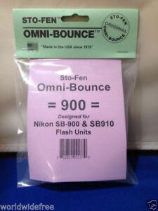 StoFen Omni-Bounce 900 Diffuser fits Nikon SB-910 Flash Units +Cleaning Clothe*