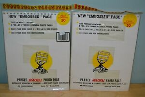 2-NEW-Parker-HeatSeal-Photopages-35x45V-Each-Page-Holds-6-3-5-034-x-4-5-034-Prints