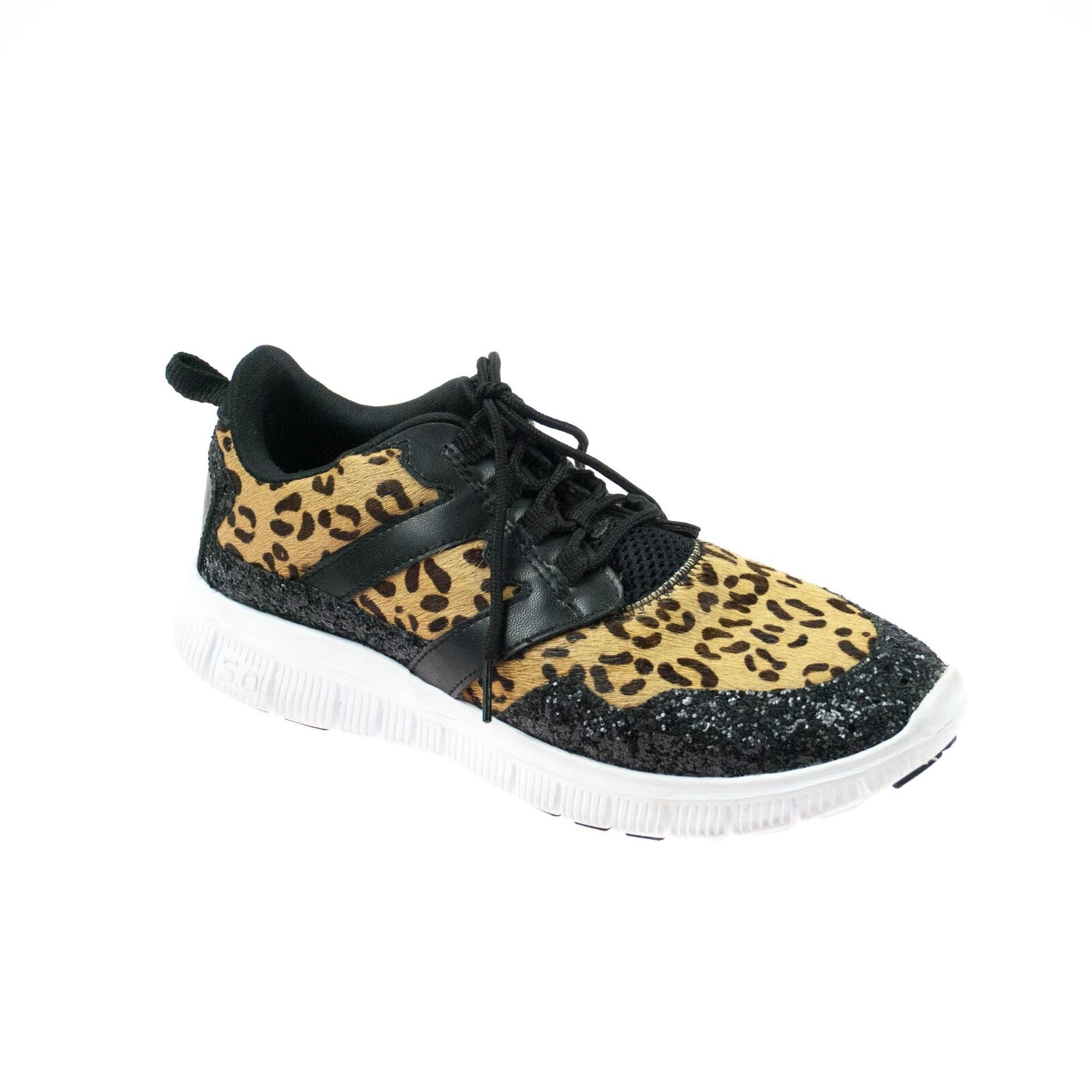 Movie´s Damen Sneaker Leopard Schwarz