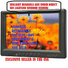 "SUNLIGHT READABLE 7"" LILLIPUT 669GL-70NP/C field monitor +BATTERY+MINI HDMI+moun"