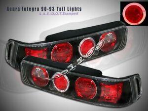 Image Is Loading 90 93 Acura Integra Tail Lights Jdm Black