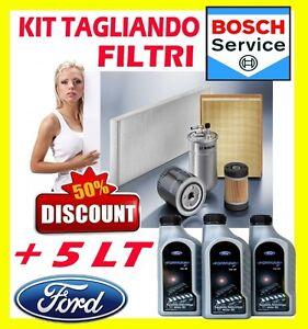 KIT-TAGLIANDO-4-FILTRI-FORD-FIESTA-VI-1-4-TDCI-51KW-5LT-FORD-FORMULA-5W30