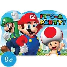 Nintendo Super Mario Brothers Postcard Invitations 8ct Party