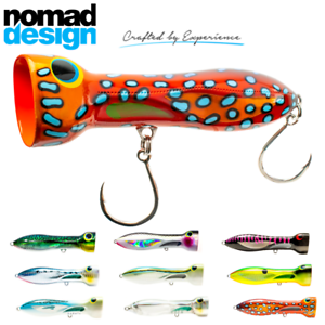 Nomad Design Saltwater Ultimate Topwater Popper Lure Chug Norris 150Mm//80G