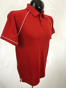 JACK-NICKLAUS-Mens-Golf-Polo-Shirt-Size-S-Red-Performance-Polyester-S-S-Casual