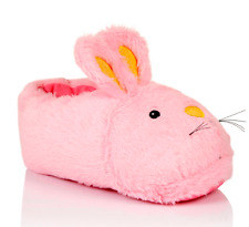 Ladies Size 5-6 Fluffy 3D Pink Rabbit Slippers Womens Super Soft Slip On Bunny M