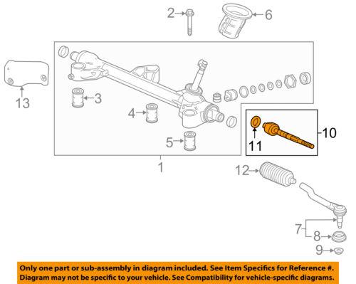 HONDA OEM 2016 Pilot Steering Gear-Inner Tie Rod End 53010TG7A01