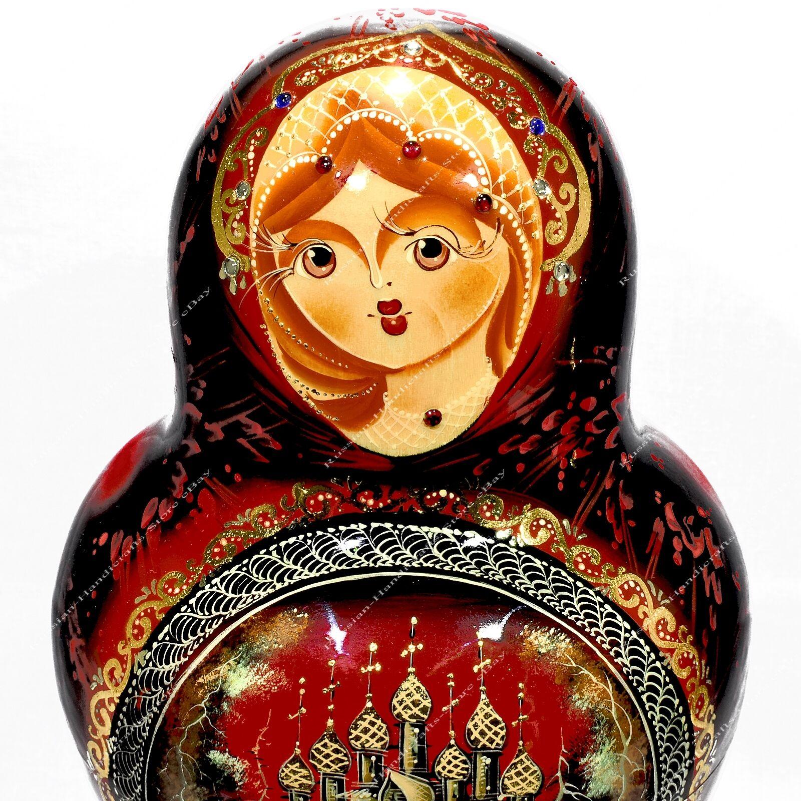 Preciosa autor ruso tradicional MATRYOSHKA Nesting Dolls Iglesias 10PCS