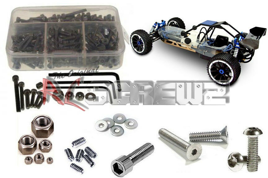 RC Screwz RCR006 Redcat Racing Dunerunner 2wd Complete Stainless Hardware Kit