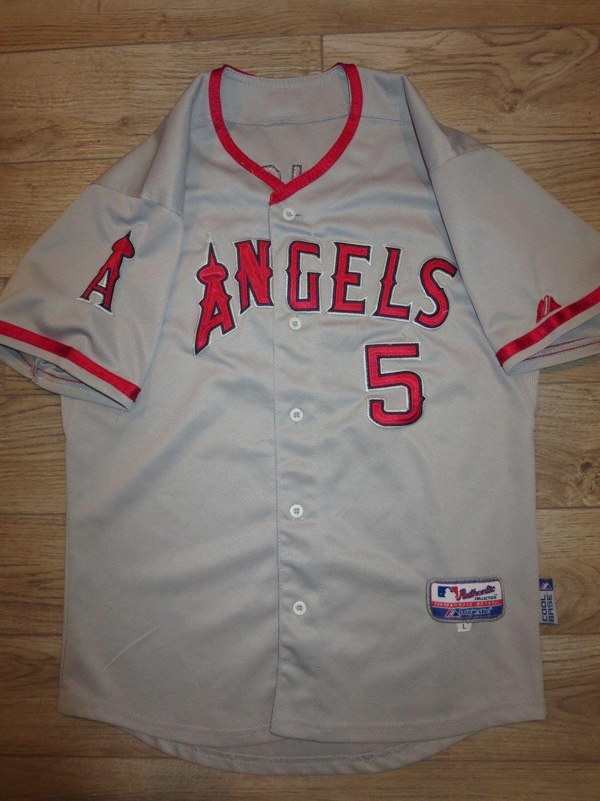 Albert Albert Albert Pujols  5 Of Anaheim Angels Majestätisch MLB Trikot Jugendliche L 14-16 a5ecf2