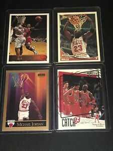 1996-97-Topps-Michael-Jordan-Card-LOT-UD-TOPPS-ALL-4-CARDS-GREAT-INVESTMENT