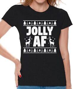 Jolly-AF-Shirt-Women-039-s-Christmas-Shirts-Ugly-Christmas-Christmas-Gifts-for-Her