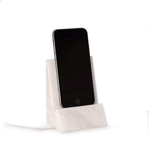 Bey Berk White Marble Desktop Phone   Tablet Cradle