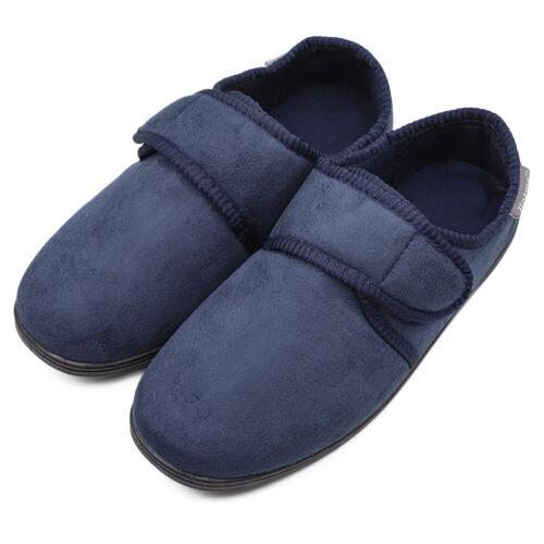 Men Comfort Diabetic Slippers Edema Swollen Feet Slip on Memory Foam House Shoes