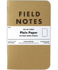 Field Notes Memo Books // Plain