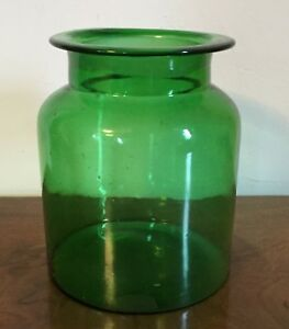 Amazing Image Is Loading Antique Green Glass Apothecary Country Store Storage Jar