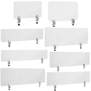 Clear-Acrylic-Desk-Partition-Shield-Sneeze-Guard-Hardware-Included-8-sizes