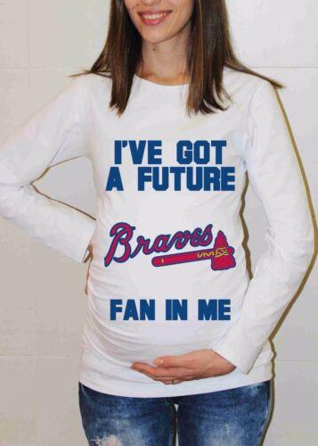 Atlanta Braves Shirt Baby Shower Baseball Maternity Shirt Pregnancy T-shirt