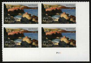 #5456 Maine Statehood, Placa Bloque [P1111 LR ], Nuevo Cualquier 5=