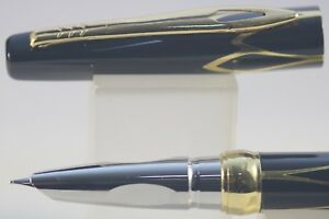 Infatigable New Luxury Hero No. 3019 Fine Fountain Pen, Black Lacquer With Gold Inlayed Trim Chaud Et Coupe-Vent