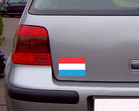 Luxemburg Flagge Aufkleber Autoaufkleber Nationalfarben 6 Größen