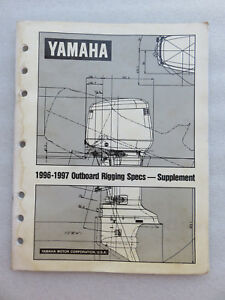 1996 1997 yamaha outboard marine rigging guide service manual rh ebay ie yamaha outboard rigging guide 2015 yamaha outboard rigging guide 2016