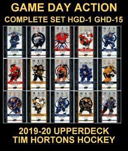 2019-20-UD-TIM-HORTONS-GAME-DAY-ACTION-Complete-Set-HGD-1-to-HGD-15