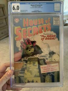 House of Secrets #1/Silver Age DC/Scarce Double Cover/CGC 6.0