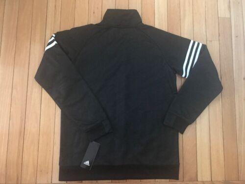 NWT ADIDAS Boy/'s Polyester Full Zip-Up Track Jacket Black//White AP5424 E54