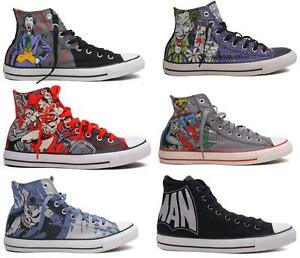 53cffb79438 NEW CONVERSE DC COMICS JOKER BATMAN SUPERMAN ALL STAR CHUCK TAYLOR ...