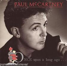 "PAUL McCARTNEY - Once Upon A Long Ago (UK 2 Tk 1987 7"" Single PS)"