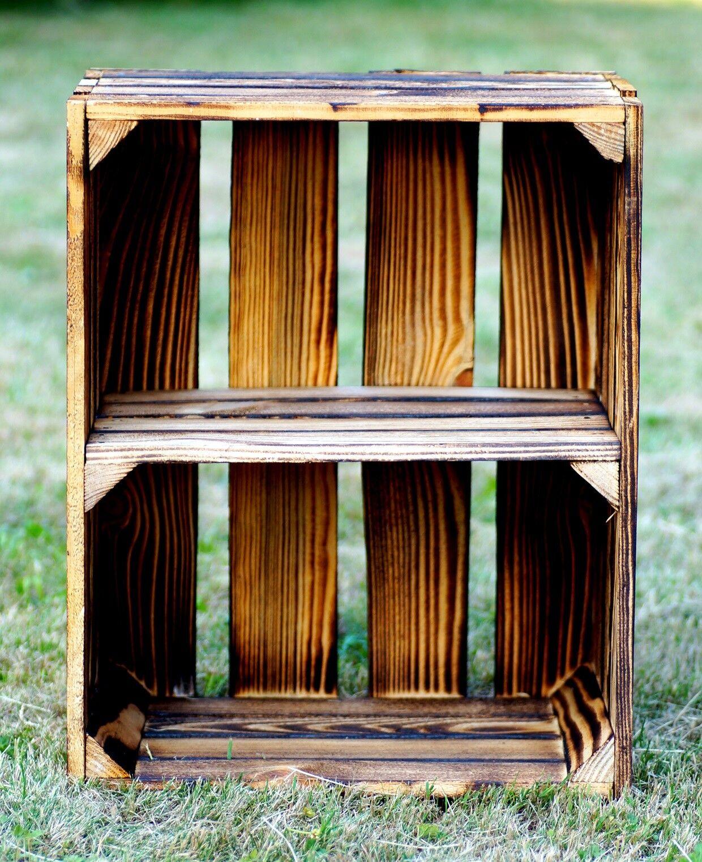 Caja de madera con suelo intermedio