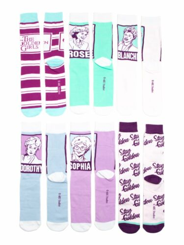The Golden Girls Mens 6 Pair Crew Socks