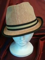 Pugs Gear Rush Tan With Band 100% Natural Fiber Fedora Hat One Size