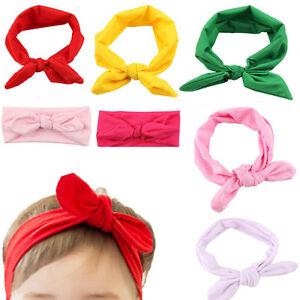 Bebe-Enfant-Mignon-Fille-Enfants-Bow-Hairband-Turban-Knot-Rabbit-Bandeau