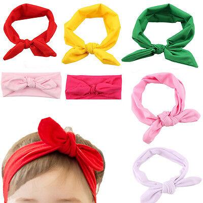 Baby Toddler Cute Girl Kids Bow Hairband Turban Knot Rabbit Headband Headwear TO