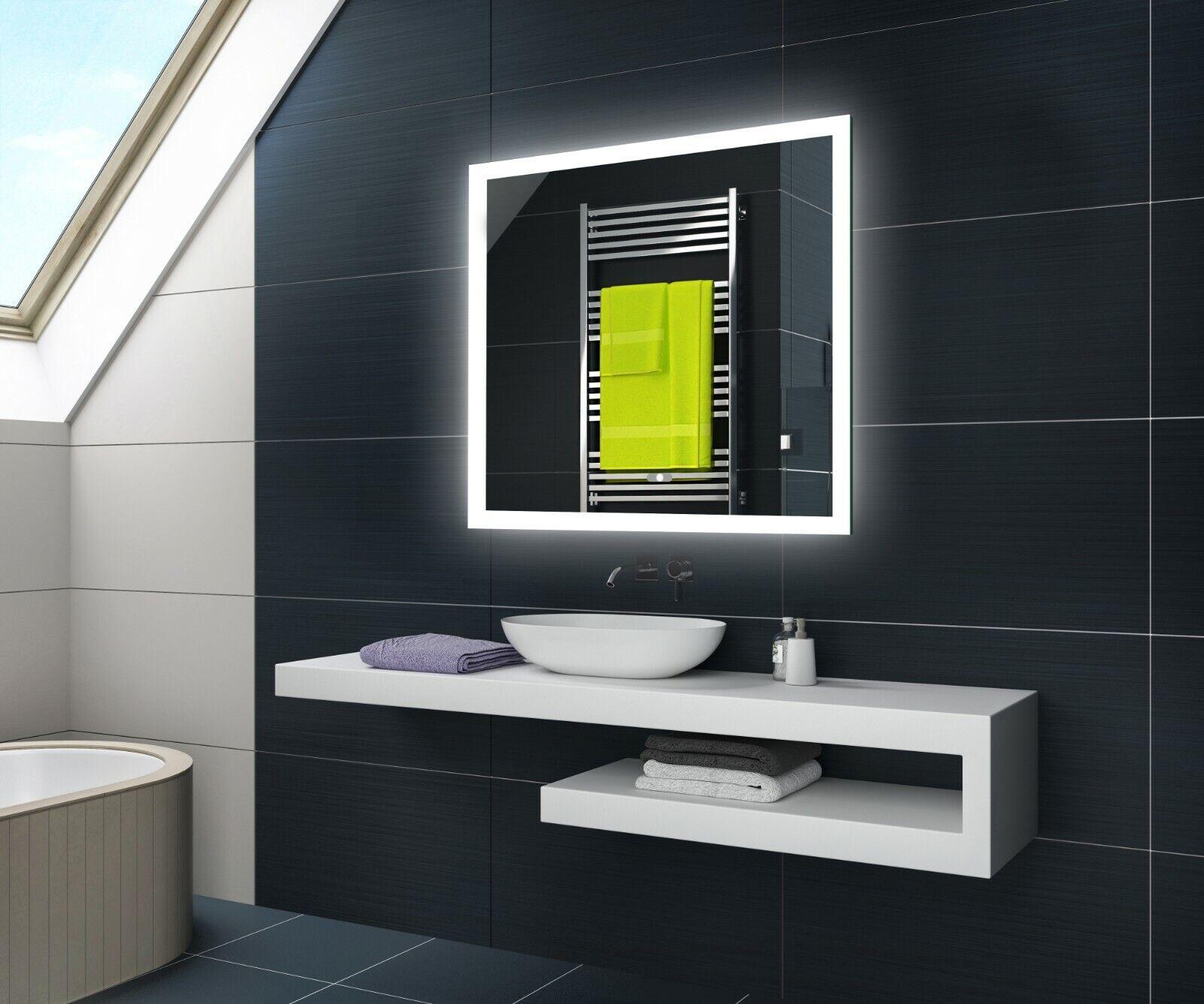 Badspiegel mit LED Beleuchtung Lichtspiegel SCHALTERLED KOSMETIKSPIEGEL L01