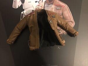 Hot Toys MMS346 Star Wars Force Awakens Finn Poe Damerons Brown Leather Jacket - stowmarket, Suffolk, United Kingdom - Hot Toys MMS346 Star Wars Force Awakens Finn Poe Damerons Brown Leather Jacket - stowmarket, Suffolk, United Kingdom