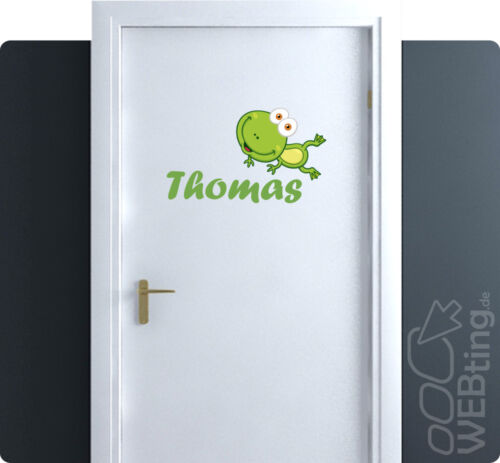 Children Name türaufkleber Door Wall Tattoo Sticker Label request Name No 9